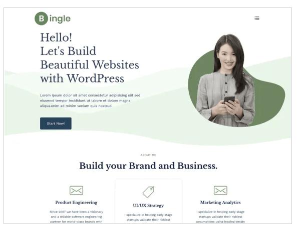 bingle wordpress theme