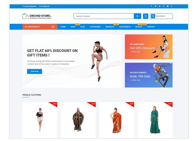 orchid store wordpress eCommerce theme